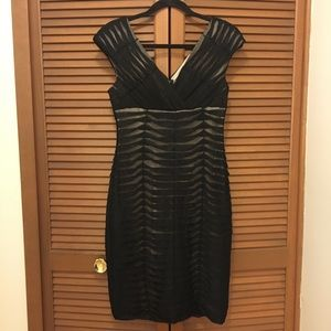 Adrianna Papell Black cocktail dress 6